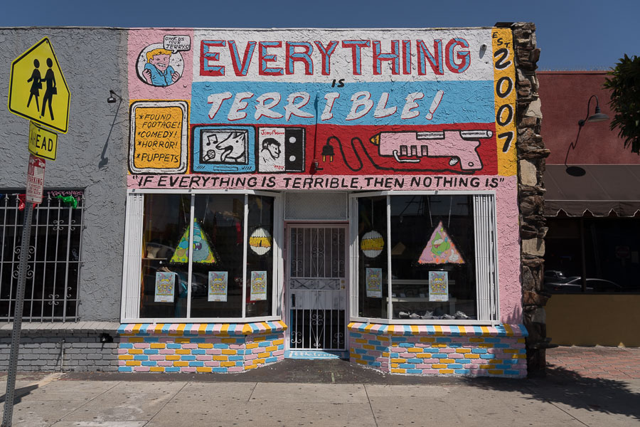Everything Is Terrible store facade, East Los Angeles. Photo by Jim Newberry.